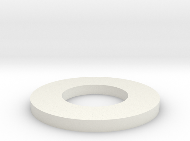 "Custom Washer OD: 0.375"" ID: 0.1875"" THK: 0.032"" in White Natural Versatile Plastic"