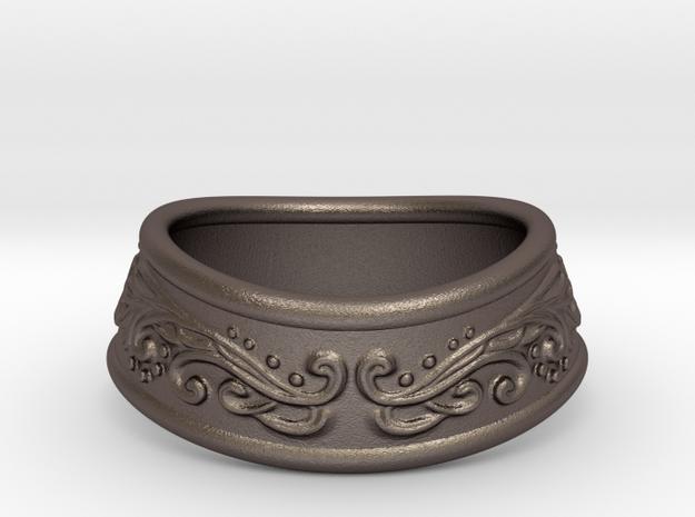 Paladin bracelet (steel) in Polished Bronzed-Silver Steel: Medium
