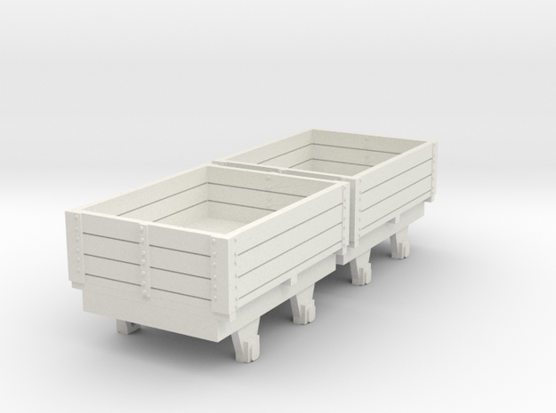 o-re-100-eskdale-ore-wagons in White Natural Versatile Plastic