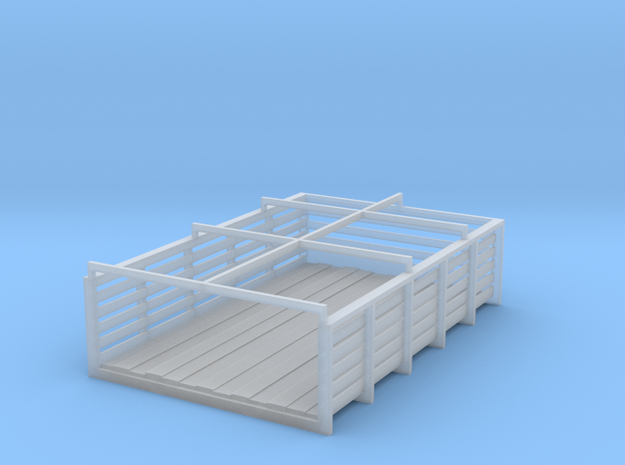 HO Scale alternate slatted box for 41-46 truck mod in Smoothest Fine Detail Plastic