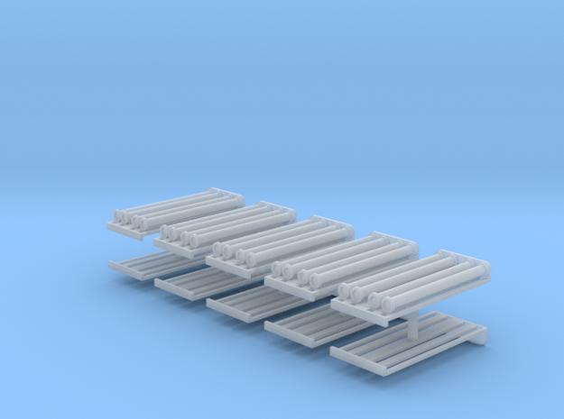 Dachrost + Saugschläuche A 2,5m für B1000 10erSet  in Smooth Fine Detail Plastic