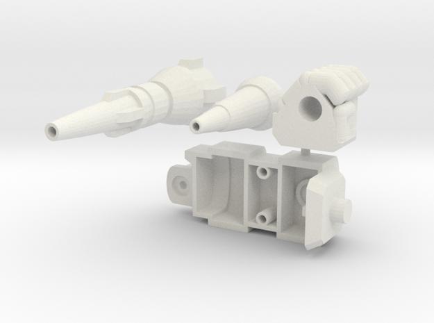 RTS Grapple Left Arm Laser in White Natural Versatile Plastic