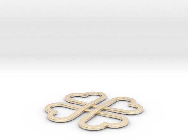 CloverKnot pendant in 14K Gold
