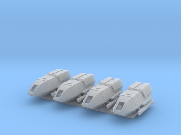 1/350 TFF Galileo 5 Shuttlecraft 4-Pack in Smooth Fine Detail Plastic