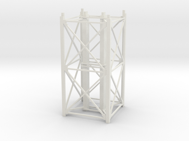 "1/64th ""S"" Scale Grain Leg/Tower 20ft Section in White Natural Versatile Plastic"