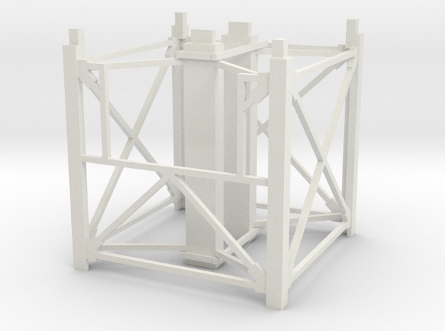"1/64th ""S"" Scale Grain Leg/Tower 10ft Top Section in White Natural Versatile Plastic"