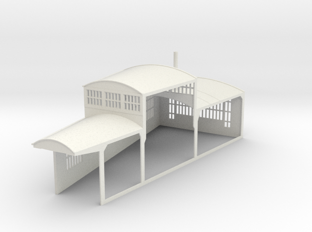 z-160-roundhouse-15-deg-left-side-section-1 in White Natural Versatile Plastic