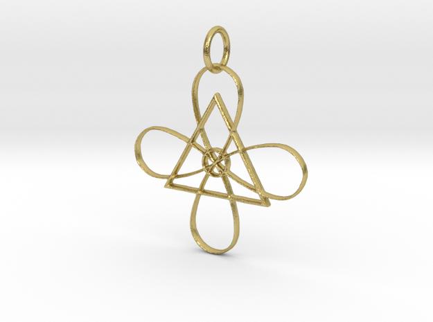Reiki Gnosa Pendant in Natural Brass: Medium