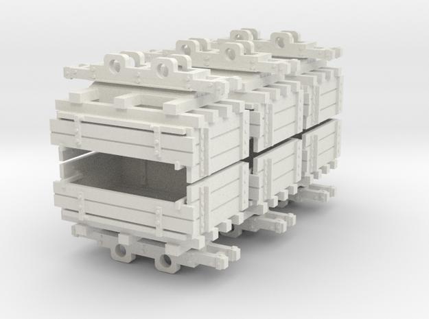 009 Ballast tipper wagons in White Natural Versatile Plastic
