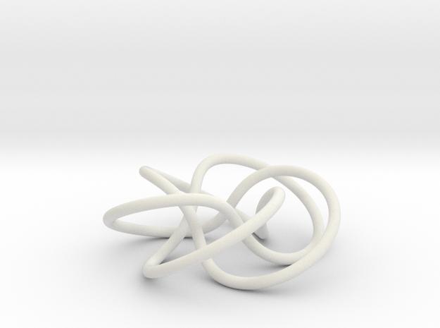 (5,3) Torus Knot in White Natural Versatile Plastic