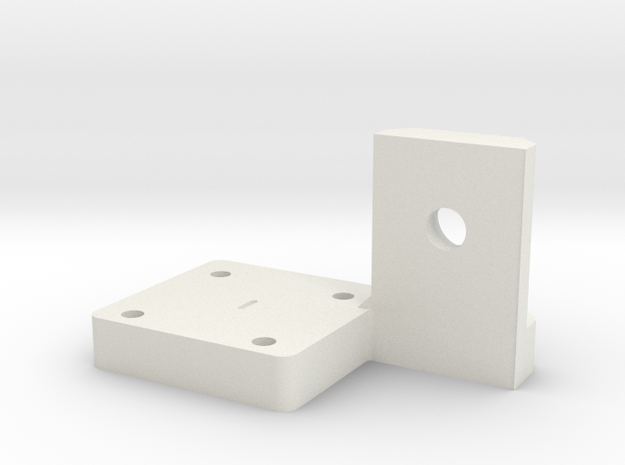 Z Nut Mount Right Rev 1 in White Natural Versatile Plastic
