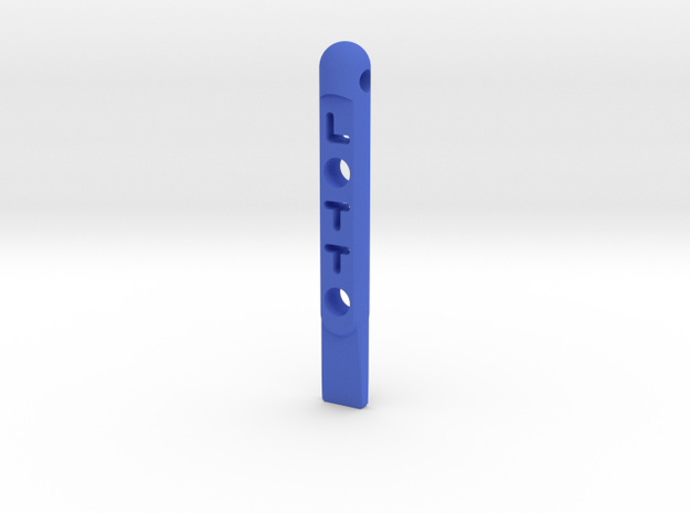 ^tool Lotto Scratch Card Scraper Ver2 3d printed Shapeways Render - Blue Strong & Flexible Polished