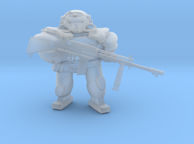FallOut Fighter MashineGun in Smoothest Fine Detail Plastic