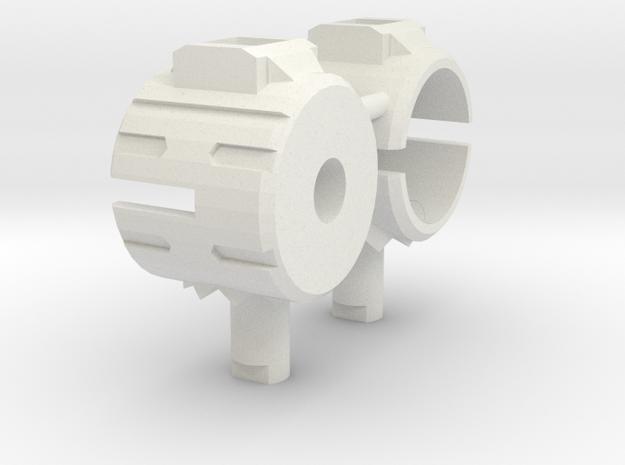Basic Combiner Wars Titan Adapter in White Natural Versatile Plastic