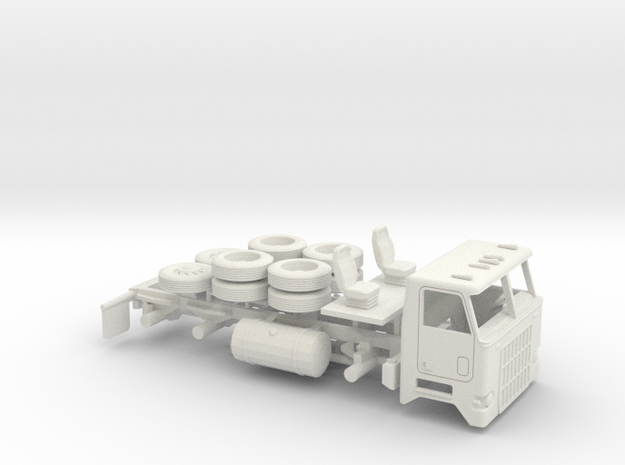 1/72 Mack Cruise-Liner Day Cab Kit in White Natural Versatile Plastic