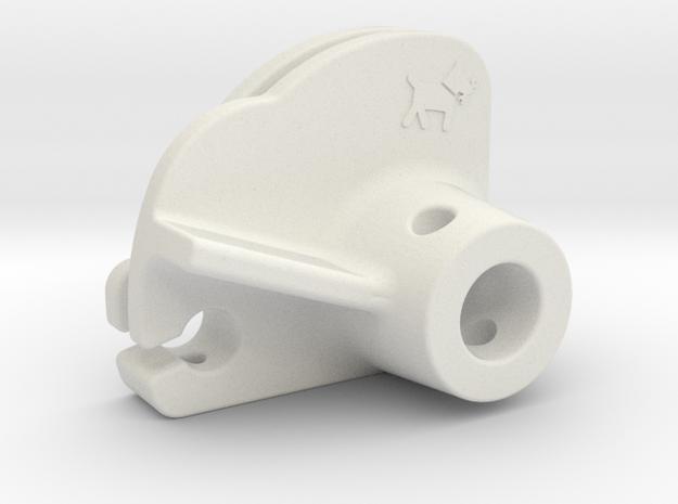 Lambretta LI/SX prog. gasroll for 30mm carb in White Natural Versatile Plastic