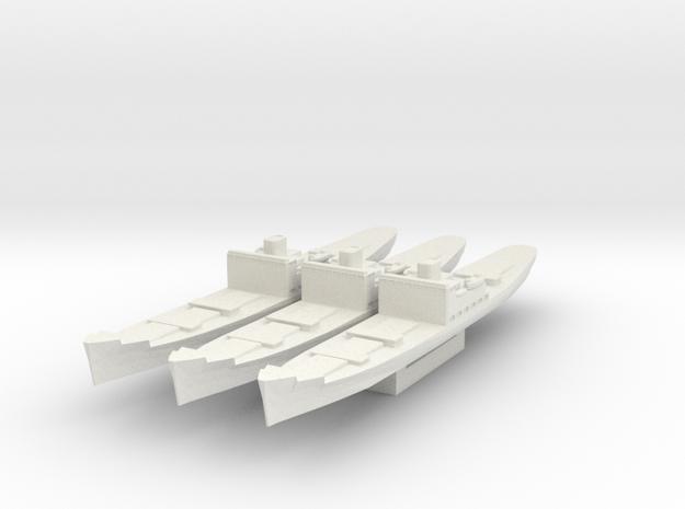 Type C3 Cargo Ship 1/1800 (No Masts) in White Natural Versatile Plastic