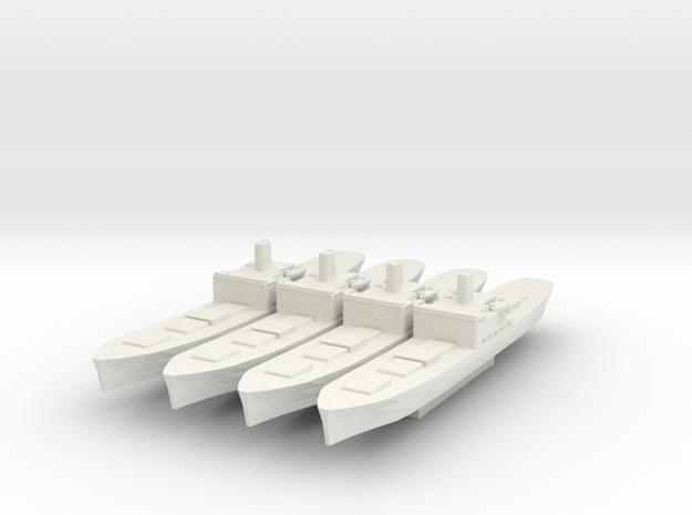 Type C1 Cargo Ship 1/1800 (No Masts) in White Natural Versatile Plastic