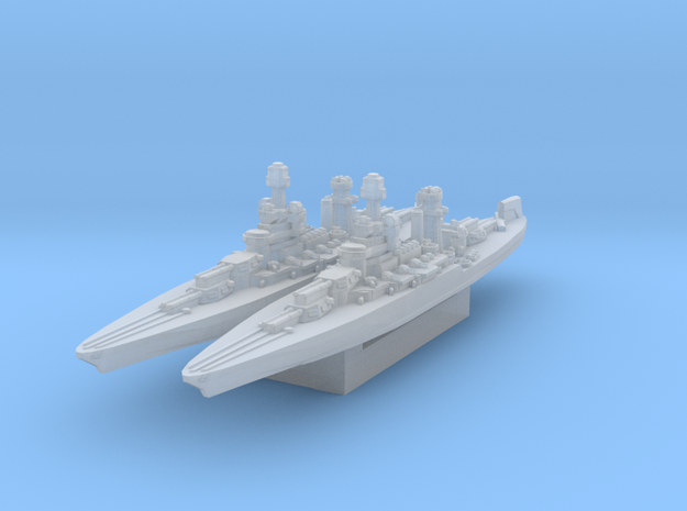 Maryland Battleship 1942 (Axis & Allies) in Smooth Fine Detail Plastic