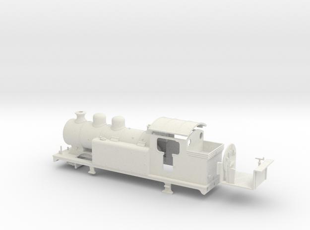 LBSCR E6-X - SR/BR body (Double dome) in White Natural Versatile Plastic: 1:76 - OO
