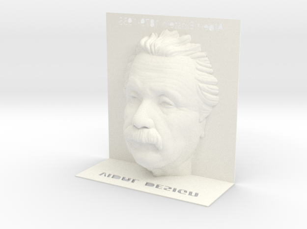 Illusion Albert Einstein - 120mm in White Processed Versatile Plastic