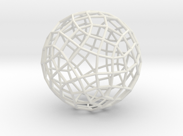 Generalized rhombicosidodecahedron in White Natural Versatile Plastic