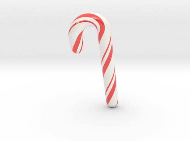 Candy cane - Medium Large in Glossy Full Color Sandstone