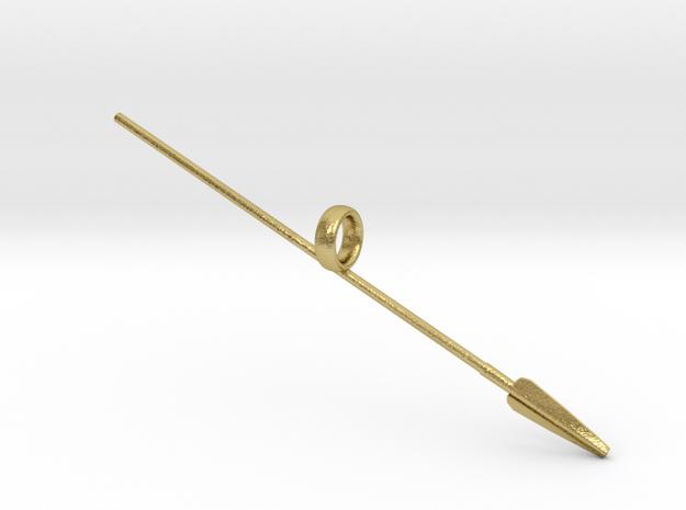 Assyrian Spear in Natural Brass