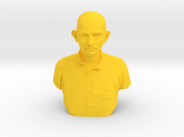 Young Gandhi in Yellow Processed Versatile Plastic: Medium