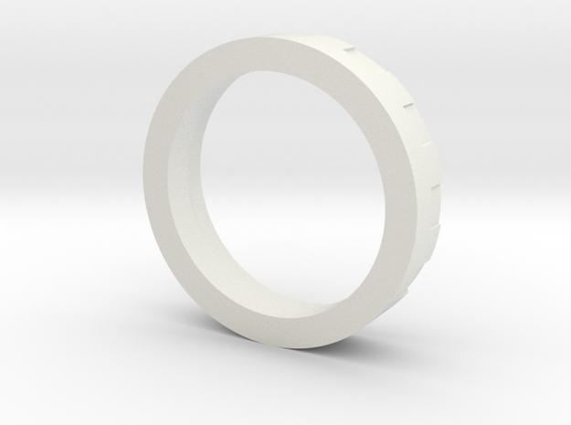 Neopixel pogo-pin short holder (7/8in - Hilt) in White Natural Versatile Plastic