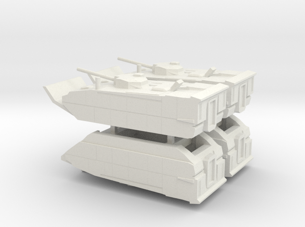 6mm (1:285) Expeditionary Fighting Vehicle in White Natural Versatile Plastic