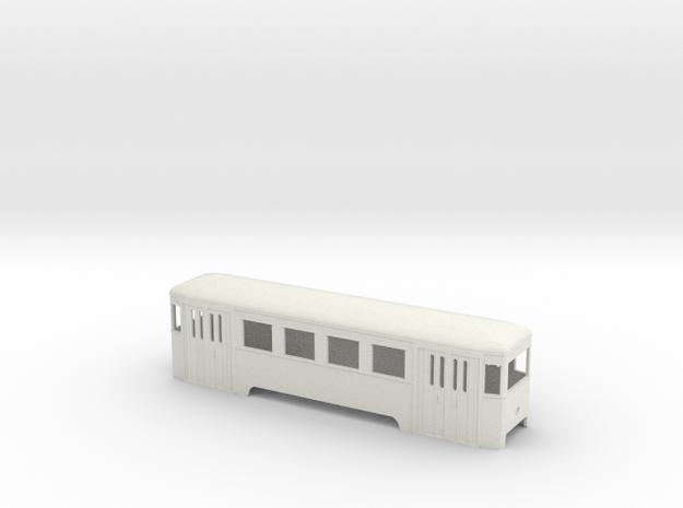 n2 Wiener Stadtbahn Beiwagen mit Lichtöffnung in White Natural Versatile Plastic