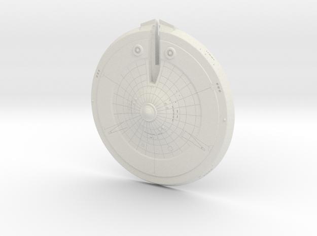 1400 USS Hood Saucer in White Natural Versatile Plastic