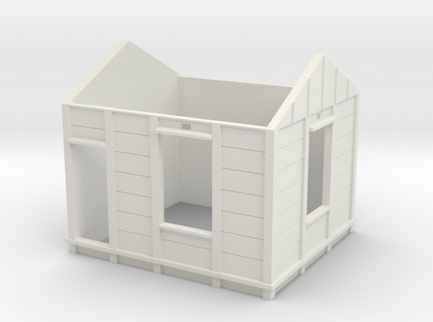 7mm Gilmore Signal Box Walls in White Natural Versatile Plastic