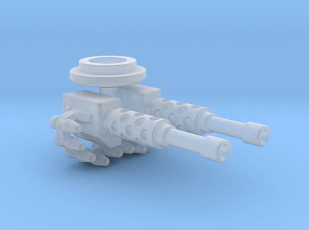 Twin MG Turret in Smooth Fine Detail Plastic