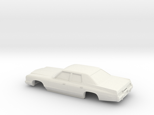 1/43 1974 Dodge Monaco Sedan in White Natural Versatile Plastic