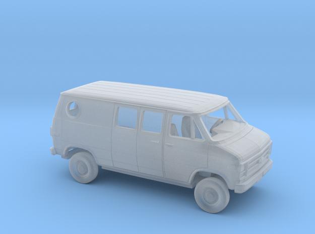 1/160 1979-83  Chevy G Custom Van Split Rear Side  in Smooth Fine Detail Plastic