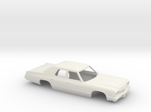 1/43 1974 Dodge Monaco Sedan open Windows in White Natural Versatile Plastic