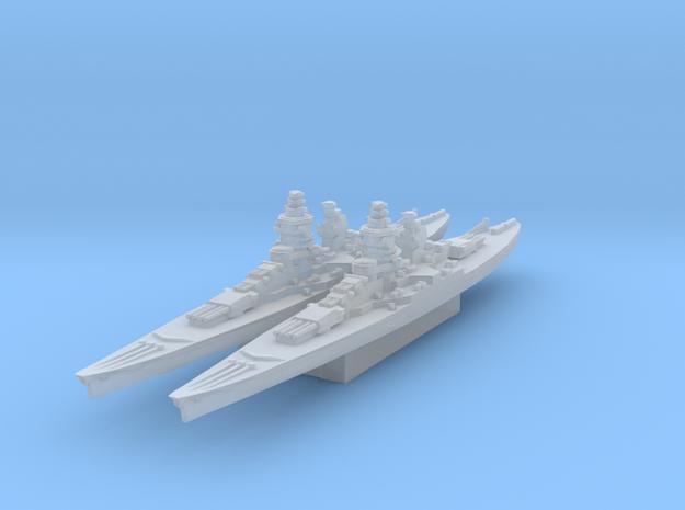 Gascogne battleship 1/3000 in Smooth Fine Detail Plastic