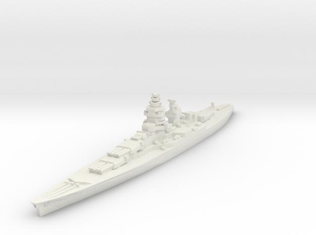 Alsace battleship 1/1800 in White Natural Versatile Plastic