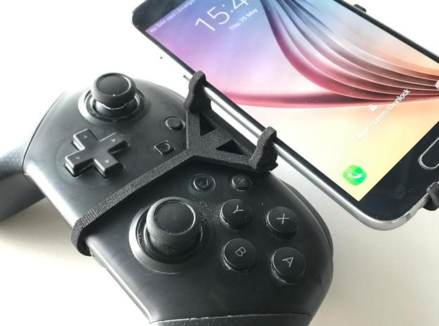 Nintendo Switch Pro controller & vivo Z1x - Front  in Black Natural Versatile Plastic