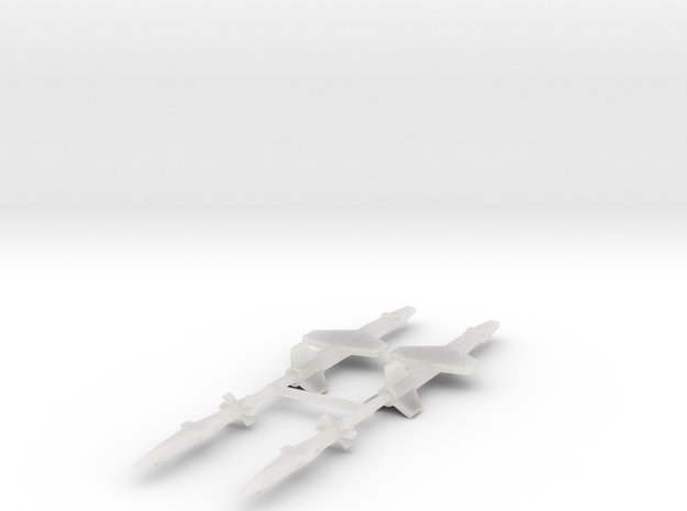 1/700 Experimental Aircraft Set 5 in Smooth Fine Detail Plastic