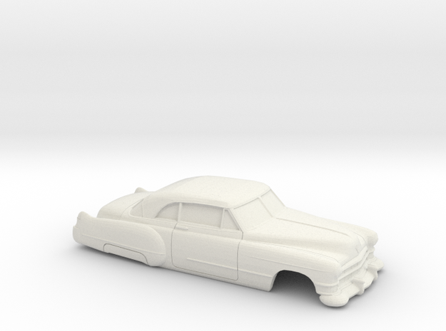 1/43 1949 cadillac 62 Hardtop Coupe Shell in White Natural Versatile Plastic