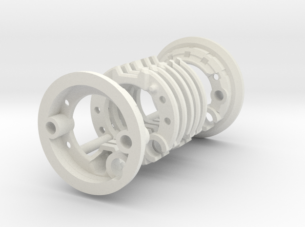 ASK Luke V2 Chassis Part2 in White Natural Versatile Plastic
