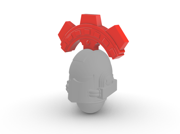 Space Knights Tech Knight Crest for V7 Helmet in Smooth Fine Detail Plastic