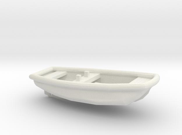 1/96 Scale 17 ft Line Handling Boat USN in White Natural Versatile Plastic