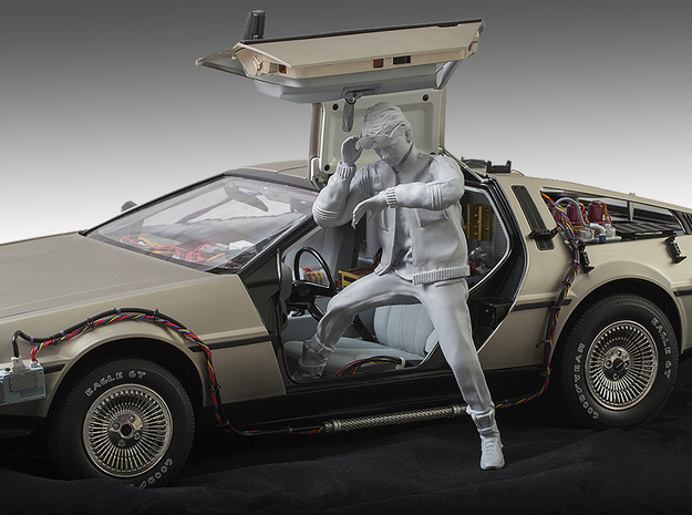 Driver Figure for 1/18 Scale DeLorean in Smooth Fine Detail Plastic