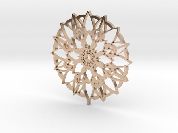 Mandala Pendant in 14k Rose Gold Plated Brass