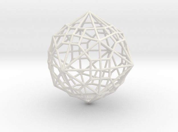 0495 Truncated Cuboctahedron + Dual in White Natural Versatile Plastic