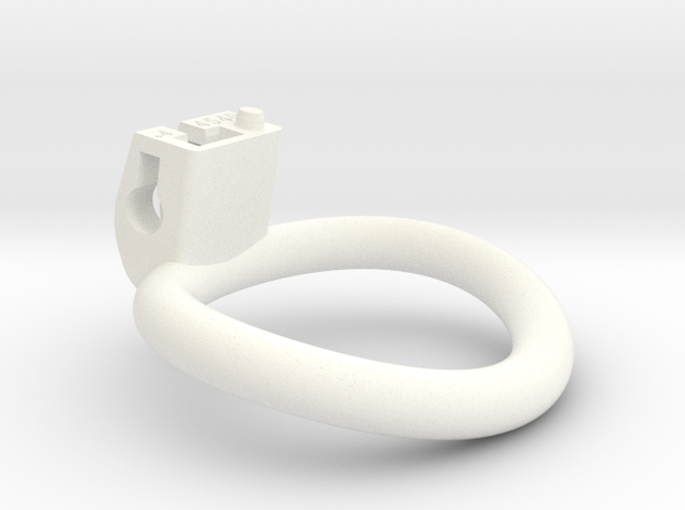 Cherry Keeper Ring - 45x40mm Wide Oval +4°(~42.5mm in White Processed Versatile Plastic